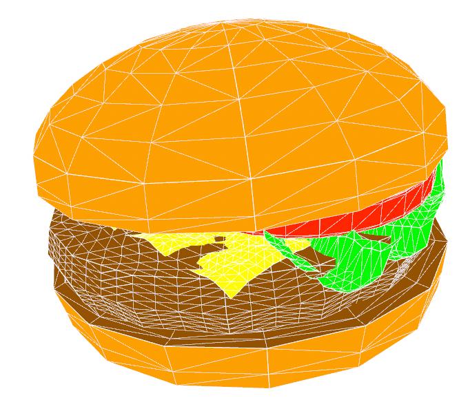 3D burger | portfolio Of Manjit Bedi | Manjit Bedi